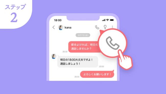 with通話(ビデオ通話)のやり方は?